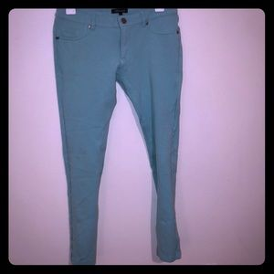 Turquoise stretchy leggings/pants